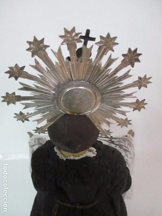 Arte: Virgen Dolorosa - Cap y Pota - Madera Policromada - Bordado Hilo de Oro - Corona y Corazón de Plata - Foto 40 - 104945167