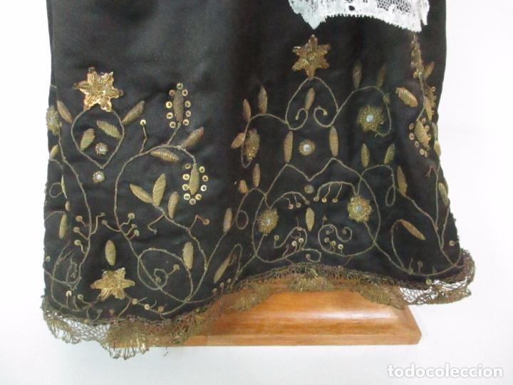 Arte: Virgen Dolorosa - Cap y Pota - Madera Policromada - Bordado Hilo de Oro - Corona y Corazón de Plata - Foto 44 - 104945167