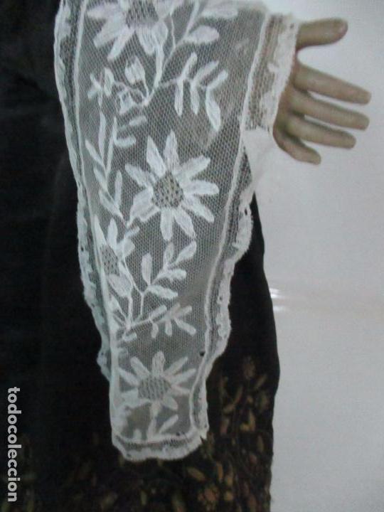 Arte: Virgen Dolorosa - Cap y Pota - Madera Policromada - Bordado Hilo de Oro - Corona y Corazón de Plata - Foto 45 - 104945167