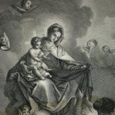 Arte: NUESTRA SEÑORA DEL CARMEN. GRABADO. AMILLS GRABADOR. ESPAÑA. SIGLO XIX. Lote 104959583