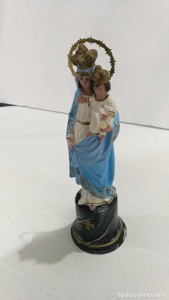 Arte: Escultura Virgen del Pilar 20 cm - Foto 2 - 104976983