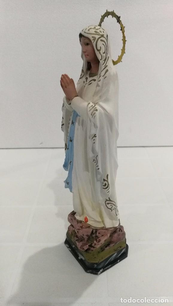 Arte: Escultura Virgen de Lourdes 30 cm - Foto 2 - 104977327