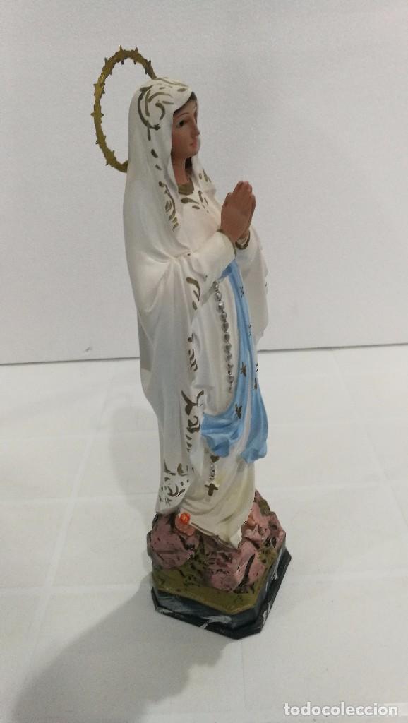 Arte: Escultura Virgen de Lourdes 30 cm - Foto 3 - 104977327