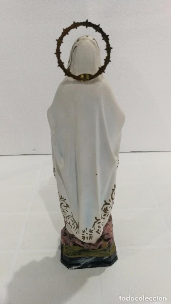 Arte: Escultura Virgen de Lourdes 30 cm - Foto 4 - 104977327
