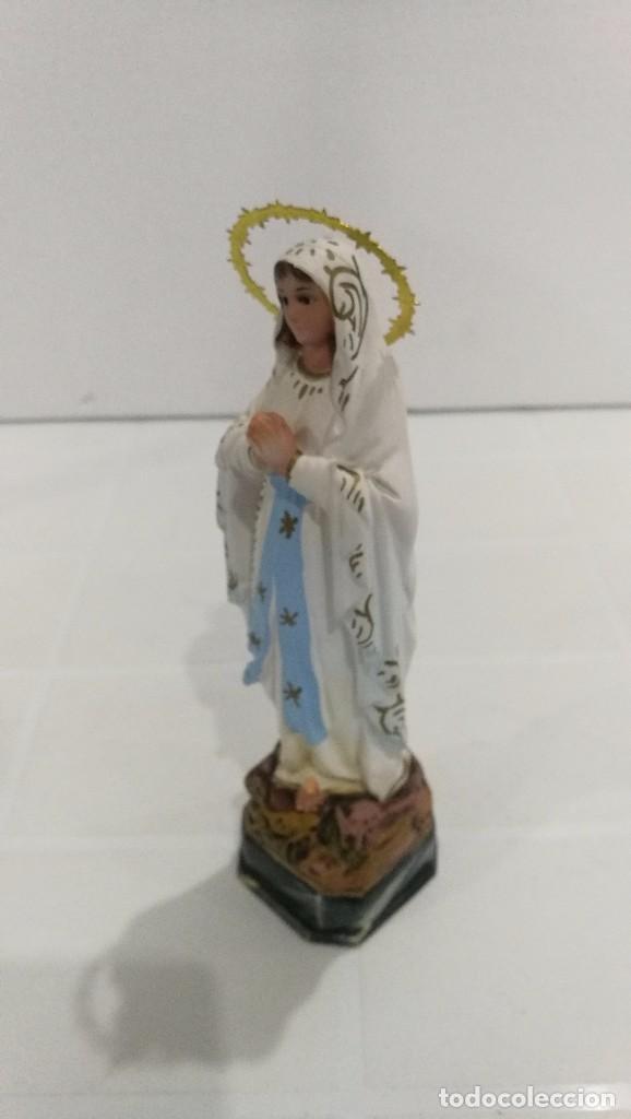 Arte: Escultura Virgen de Lourdes 20 cm - Foto 2 - 104977427