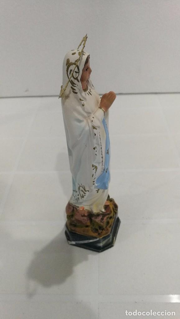 Arte: Escultura Virgen de Lourdes 20 cm - Foto 3 - 104977427