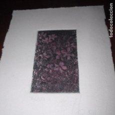 Arte: PEQUEÑO GRABADO EN PAPEL FLORES EDICIÓN NUMERADA Y FIRMADA 7/200 MEDIDA 17,5 X 12,5 CM. . Lote 104978899