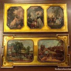 Arte: LIQUIDACION LÁMINAS: ESMALTADAS, ENMARCADAS EN MOLDURAS EN PAN DE ORO. Lote 104985879