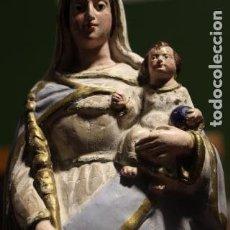 Arte: ANTIGUA VIRGEN BLANCA PATRONA DE VITORIA EN TERRACOTA ESCULTURA FIGURA RELIGIOSA ALAVA GASTEIZ. Lote 105849816