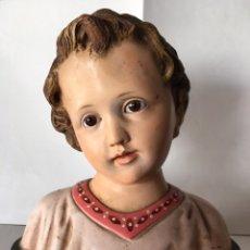 Arte: TALLA ESCULTÓRICA. NIÑO JESÚS. OLOT. H. 1940. Lote 105152215