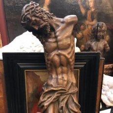 Arte: EXCEPCIONAL CRISTO DE TERRACOTA FIRMADO, CON BASE DE MARMOL. Lote 105378851