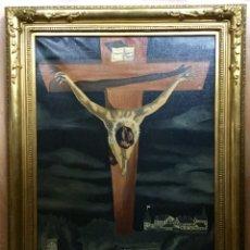 Arte: ÓLEO CRISTO SAN JUAN DE LA CRUZ SIMILAR AL QUE DALÍ REALIZÓ. Lote 85205492