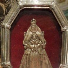 Arte: VIRGEN DE LOS REYES CON MARCO DE PLATA 19X14.5 CM. Lote 105585210