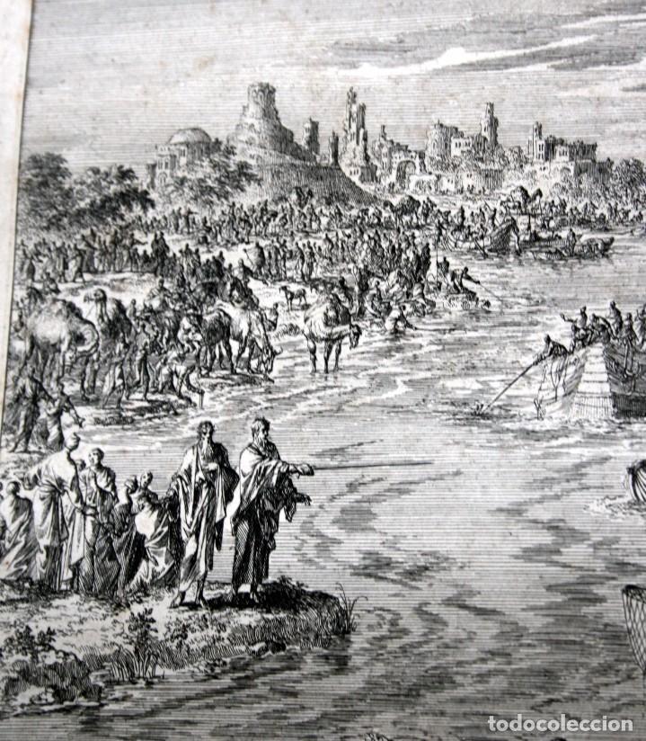 Arte: 1729 - MOISES CONVIERTE LAS AGUAS EN SANGRE - BIBLIA - LUYKEN - ENGRAVING - GRAVURE - Foto 2 - 94030170