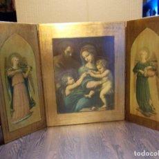 Arte: RETABLO TRIPTICO NACIMIENTO / BELÉN / ANGELES (SR). Lote 105649051