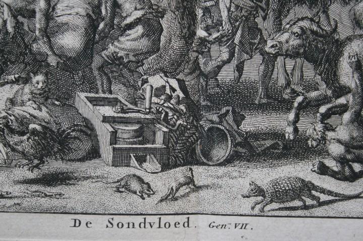 Arte: 1729 GRABADO - BIBLIA - EL DILUVIO UNIVERSAL - Johannes Luyken - GRABADO - ENGRAVING - Foto 2 - 55793343