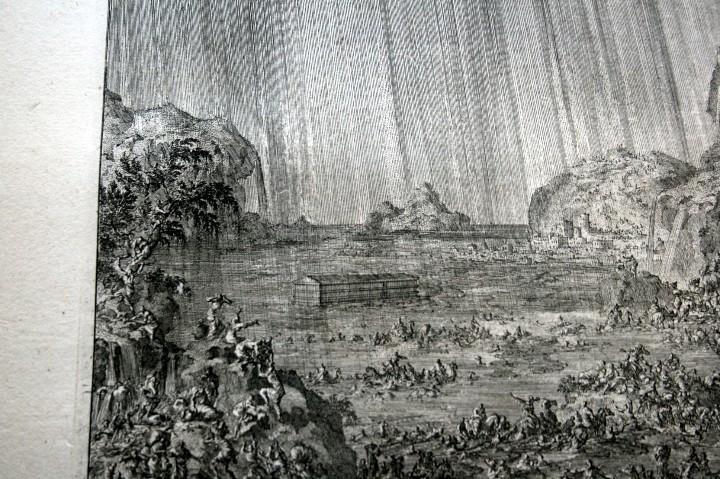 Arte: 1729 GRABADO - BIBLIA - EL DILUVIO UNIVERSAL - Johannes Luyken - GRABADO - ENGRAVING - Foto 3 - 55793343