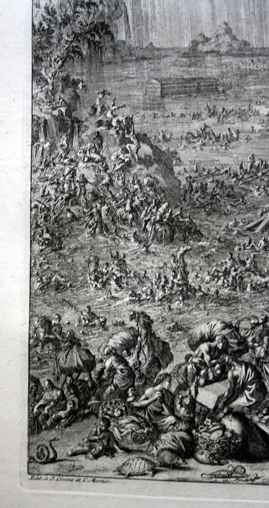 Arte: 1729 GRABADO - BIBLIA - EL DILUVIO UNIVERSAL - Johannes Luyken - GRABADO - ENGRAVING - Foto 4 - 55793343