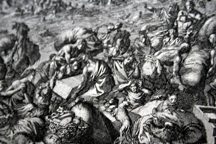 Arte: 1729 GRABADO - BIBLIA - EL DILUVIO UNIVERSAL - Johannes Luyken - GRABADO - ENGRAVING - Foto 5 - 55793343
