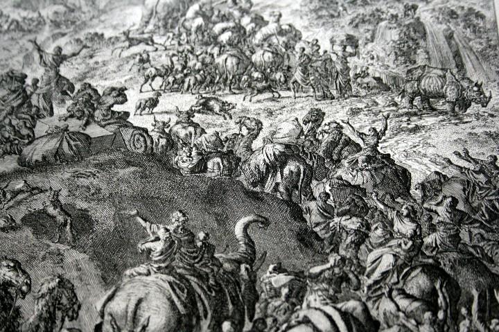 Arte: 1729 GRABADO - BIBLIA - EL DILUVIO UNIVERSAL - Johannes Luyken - GRABADO - ENGRAVING - Foto 6 - 55793343