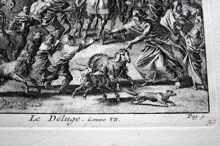 Arte: 1729 GRABADO - BIBLIA - EL DILUVIO UNIVERSAL - Johannes Luyken - GRABADO - ENGRAVING - Foto 7 - 55793343