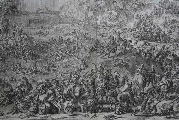 Arte: 1729 GRABADO - BIBLIA - EL DILUVIO UNIVERSAL - Johannes Luyken - GRABADO - ENGRAVING - Foto 8 - 55793343