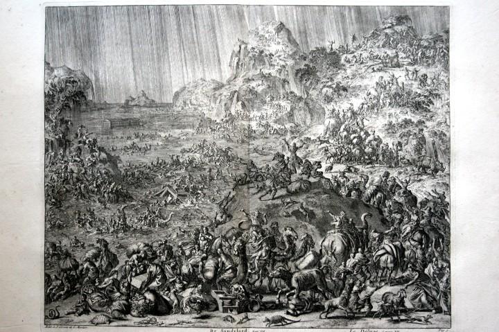 Arte: 1729 GRABADO - BIBLIA - EL DILUVIO UNIVERSAL - Johannes Luyken - GRABADO - ENGRAVING - Foto 9 - 55793343