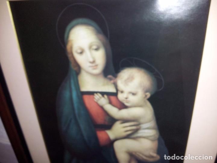 Arte: Preciosa litografía de Virgen con Niño - Foto 2 - 105699391