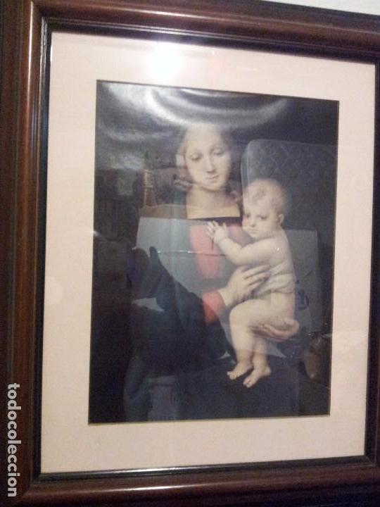 PRECIOSA LITOGRAFÍA DE VIRGEN CON NIÑO (Arte - Arte Religioso - Pintura Religiosa - Otros)