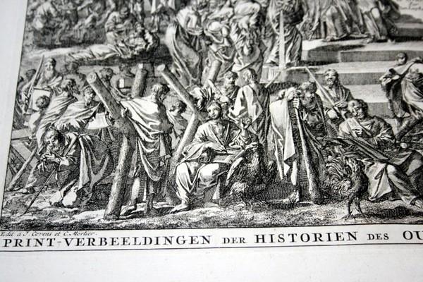 Arte: 1729 - IMAGENES DEL ANTIGUO Y NUEVO TESTAMENTO - BIBLIA - LUYKEN - ENGRAVING - GRAVURE - Foto 3 - 60370515