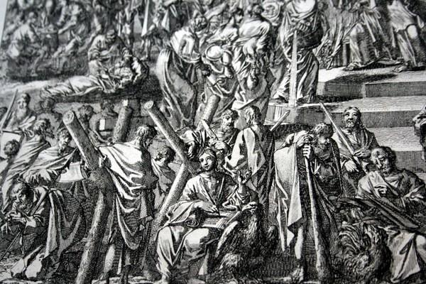 Arte: 1729 - IMAGENES DEL ANTIGUO Y NUEVO TESTAMENTO - BIBLIA - LUYKEN - ENGRAVING - GRAVURE - Foto 8 - 60370515