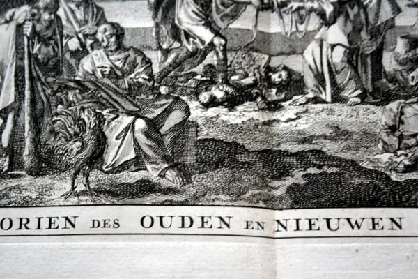 Arte: 1729 - IMAGENES DEL ANTIGUO Y NUEVO TESTAMENTO - BIBLIA - LUYKEN - ENGRAVING - GRAVURE - Foto 9 - 60370515