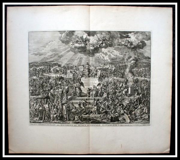 Arte: 1729 - IMAGENES DEL ANTIGUO Y NUEVO TESTAMENTO - BIBLIA - LUYKEN - ENGRAVING - GRAVURE - Foto 13 - 60370515