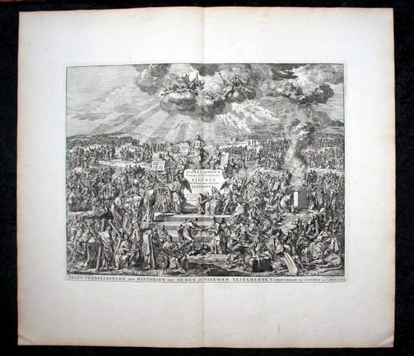 Arte: 1729 - IMAGENES DEL ANTIGUO Y NUEVO TESTAMENTO - BIBLIA - LUYKEN - ENGRAVING - GRAVURE - Foto 14 - 60370515