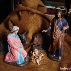Arte: BELEN MISTERIO DE OLOT EN PASTA OJOS DE CRISTAL 5 PIEZAS. Lote 105724431