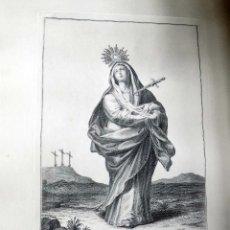 Arte: ANTIGUO GRABADO. NUESTRA SEÑORA DE LOS DOLORES.LA GRANJA, GRABADOR: VICENTE PASCUAL 1810. Lote 105799403