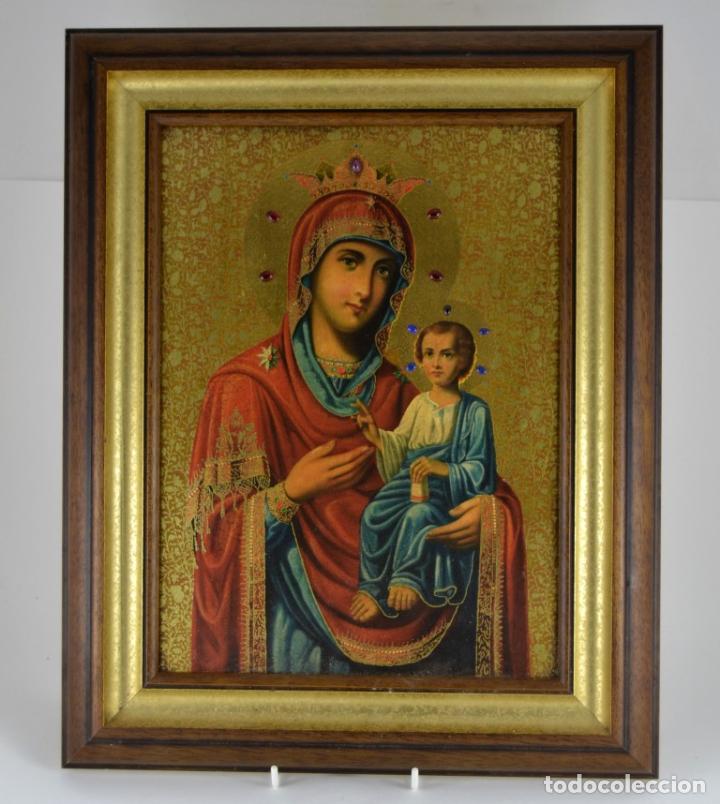 ENVIO 24H / ICONO VIRGEN MARIA / PAPA GIOVANNI XXIII / JUAN XXIII / CERTIFICADO AUTENTICIDAD (Arte - Arte Religioso - Iconos)