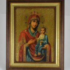Arte: ENVIO 24H / ICONO VIRGEN MARIA / PAPA GIOVANNI XXIII / JUAN XXIII / CERTIFICADO AUTENTICIDAD. Lote 105837799