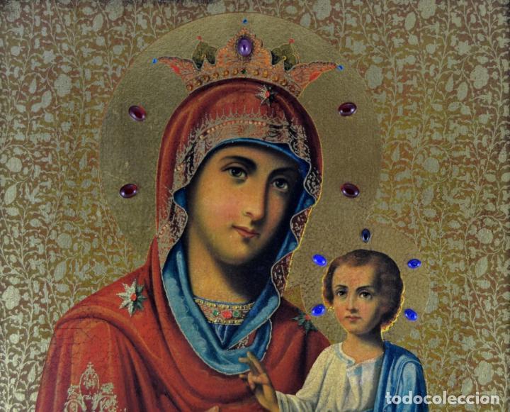 Arte: ENVIO 24h / Icono Virgen Maria / Papa Giovanni XXIII / Juan XXIII / Certificado autenticidad - Foto 2 - 105837799