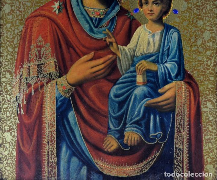Arte: ENVIO 24h / Icono Virgen Maria / Papa Giovanni XXIII / Juan XXIII / Certificado autenticidad - Foto 3 - 105837799