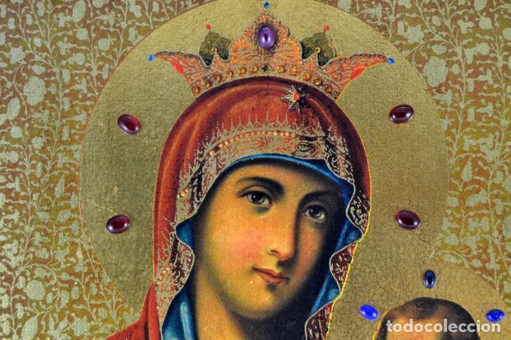 Arte: ENVIO 24h / Icono Virgen Maria / Papa Giovanni XXIII / Juan XXIII / Certificado autenticidad - Foto 4 - 105837799