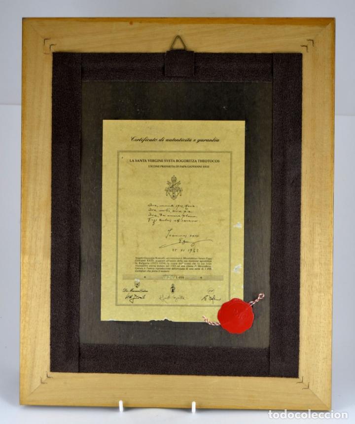 Arte: ENVIO 24h / Icono Virgen Maria / Papa Giovanni XXIII / Juan XXIII / Certificado autenticidad - Foto 12 - 105837799