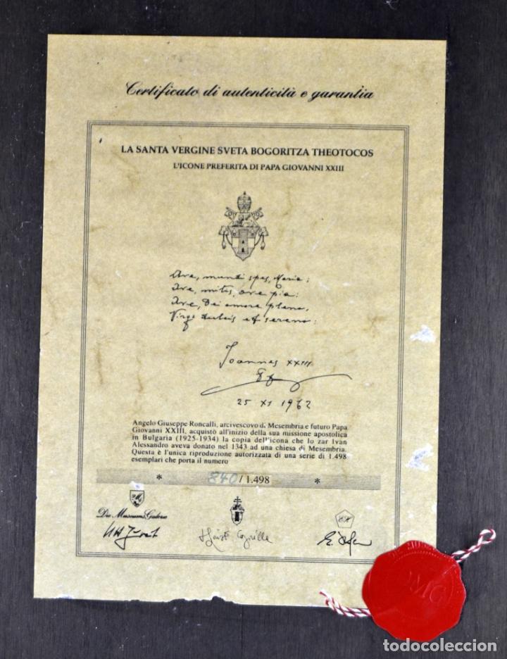 Arte: ENVIO 24h / Icono Virgen Maria / Papa Giovanni XXIII / Juan XXIII / Certificado autenticidad - Foto 13 - 105837799