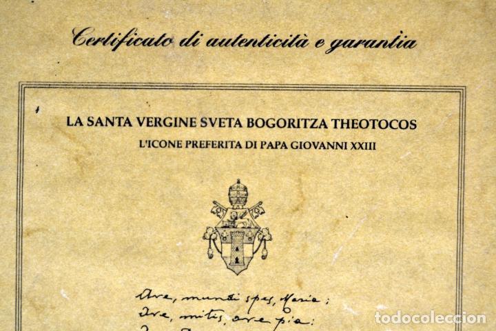 Arte: ENVIO 24h / Icono Virgen Maria / Papa Giovanni XXIII / Juan XXIII / Certificado autenticidad - Foto 14 - 105837799
