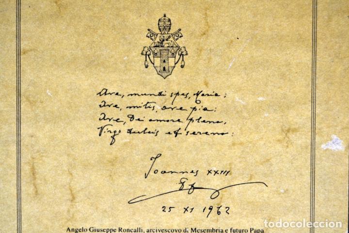 Arte: ENVIO 24h / Icono Virgen Maria / Papa Giovanni XXIII / Juan XXIII / Certificado autenticidad - Foto 15 - 105837799