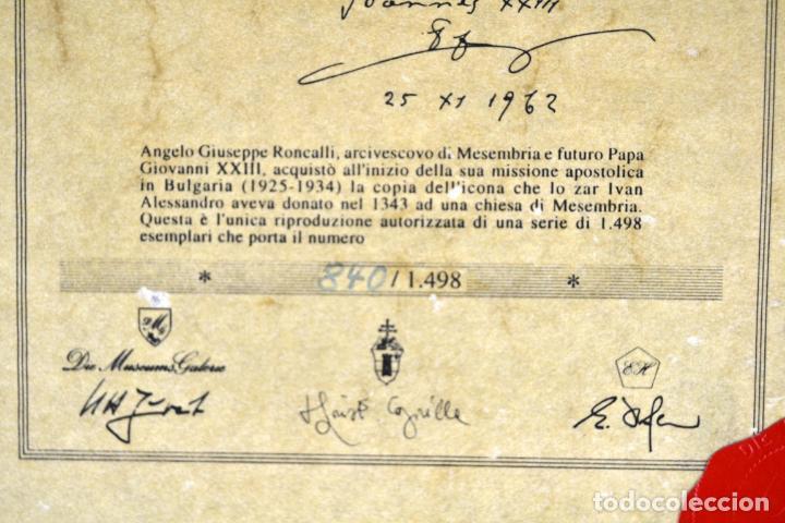 Arte: ENVIO 24h / Icono Virgen Maria / Papa Giovanni XXIII / Juan XXIII / Certificado autenticidad - Foto 16 - 105837799