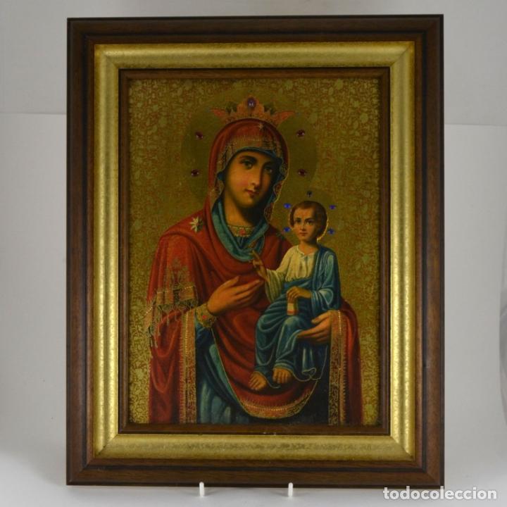 Arte: ENVIO 24h / Icono Virgen Maria / Papa Giovanni XXIII / Juan XXIII / Certificado autenticidad - Foto 18 - 105837799
