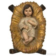 Arte: PRECIOSO NIÑO JESÚS EN SU CUNA.. Lote 106962523