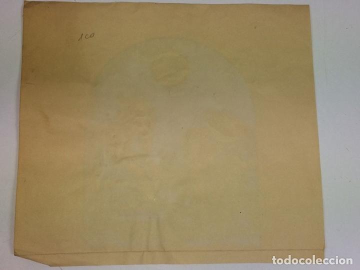 Arte: JESÚS Y NICODEMO. ACUARELA SOBRE PAPEL. FIRMADO GORGUES. ESPAÑA. CIRCA 1950 - Foto 5 - 105896763