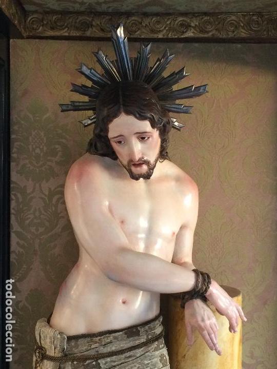Arte: Cristo. Talla en madera del siglo XIX en urna - Foto 4 - 106009883
